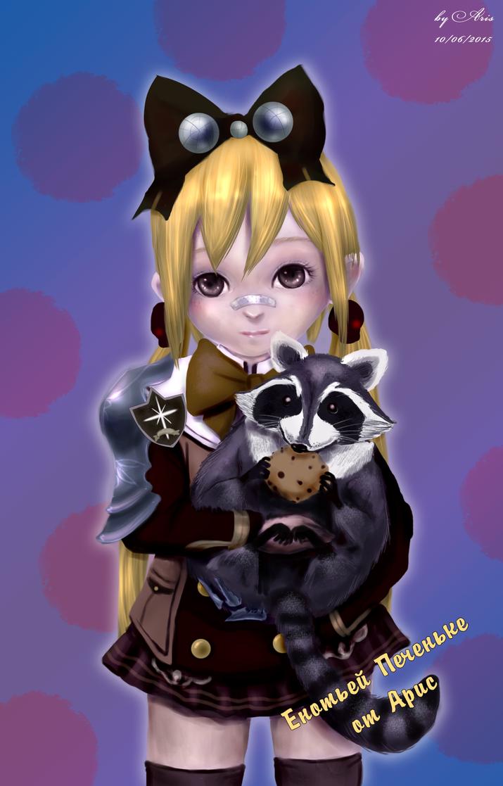 Mechanic and raccoon by ArisRUS