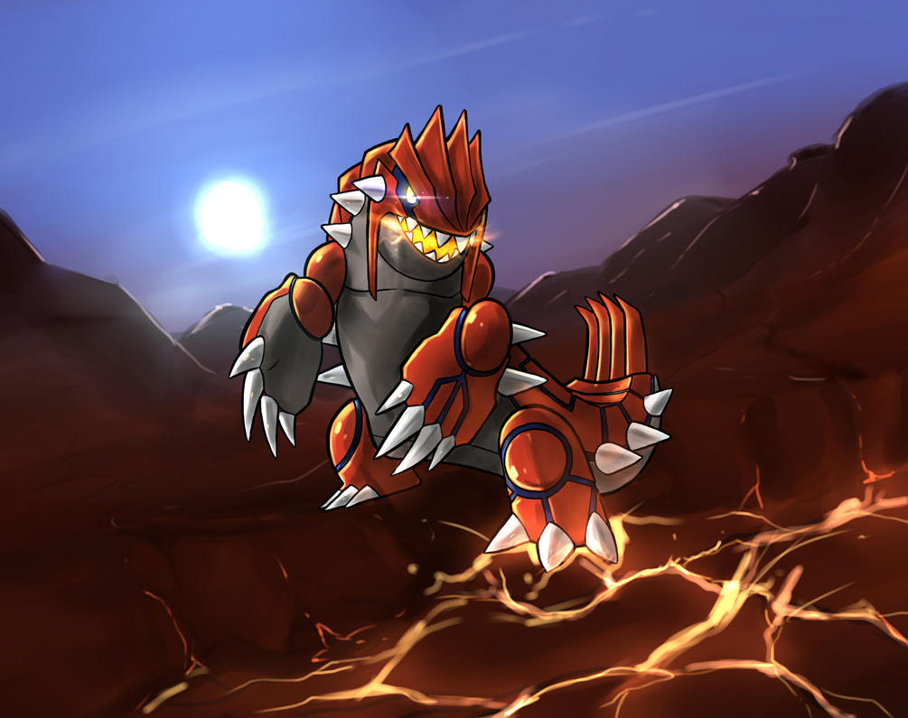 Groudon (Collab) by WillDrawForFood1