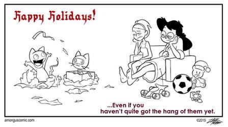 Christmas Morning Fun by WillDrawForFood1