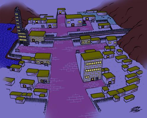 Goldenrod City (Night)