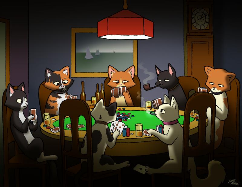 Cats Playing Poker