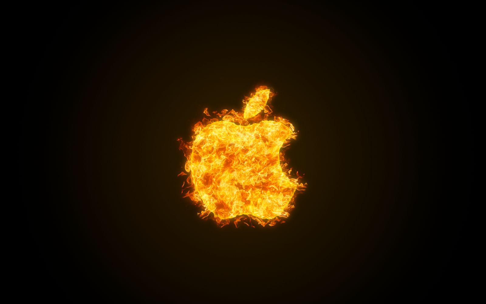 apple fire wallpaper