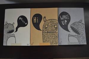 Monster Notebooks by SimplySaraArt