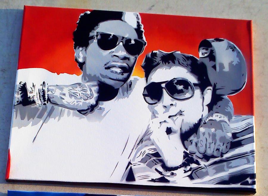 Wiz Khalifa and Mac Miller by SimplySaraArt