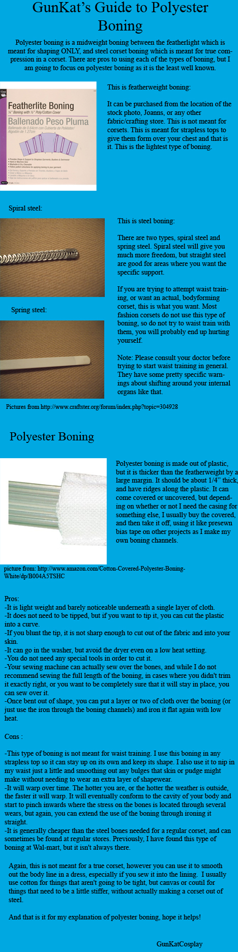 Introduction to Polyester Boning by GunKatCosplay
