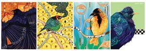 Bird Cards by AngelaRizza