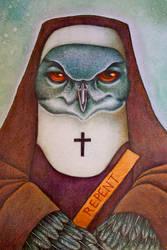 The Owl Nun by AngelaRizza
