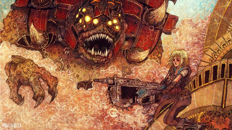 Gears of War III by AngelaRizza