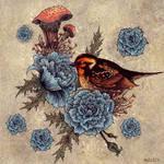 Blue Rose Bird