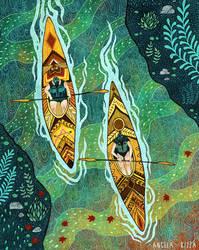 Fall Kayaking by AngelaRizza