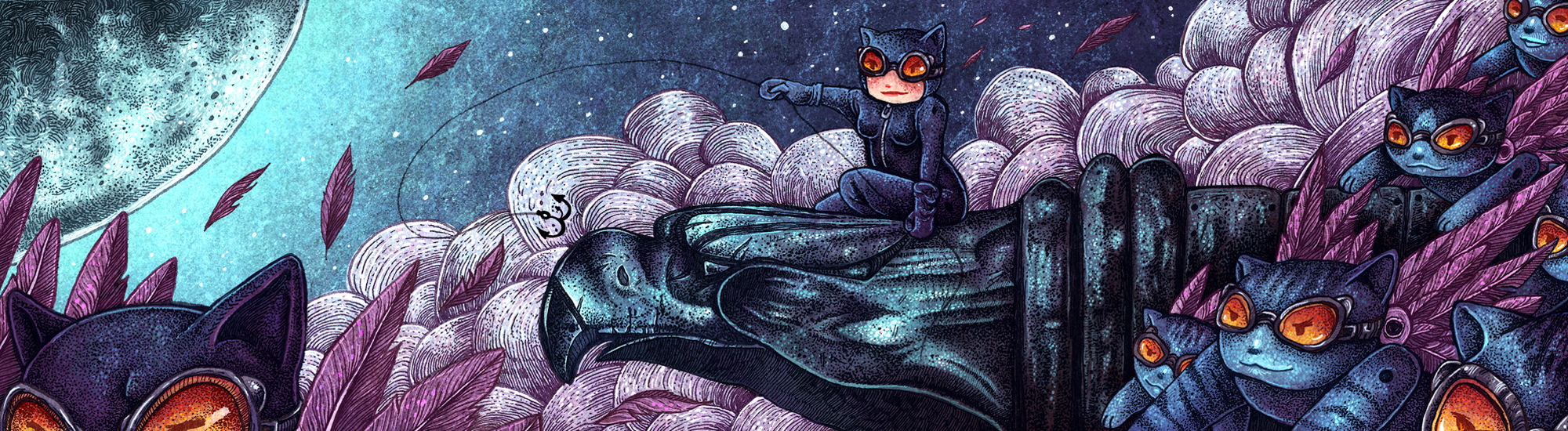 Catwoman And Her Minions by AngelaRizza