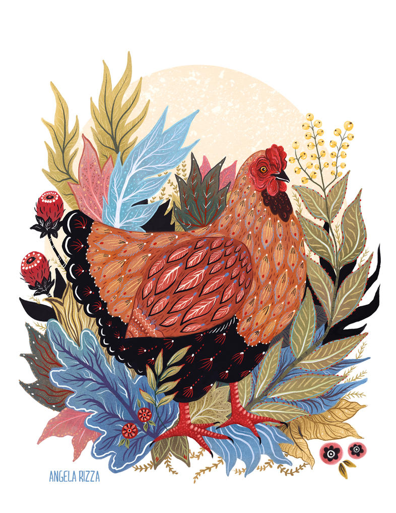 Spring Chicken by AngelaRizza
