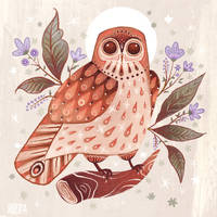 Owl Blooms by AngelaRizza