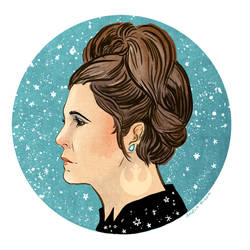 Leia Organa by AngelaRizza