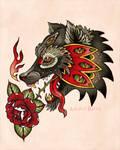 Mystic Wolf Tattoo