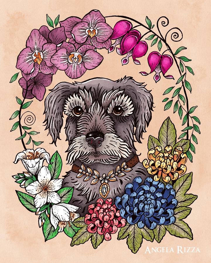Macy Dog Tattoo Portrait