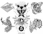 Black and White Tattoo Flash 1