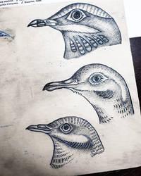 Bird Heads Tattoo