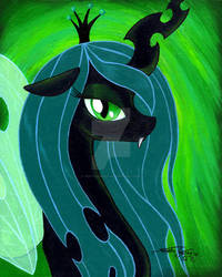 Queen Chrysalis Painting by PonyCandles