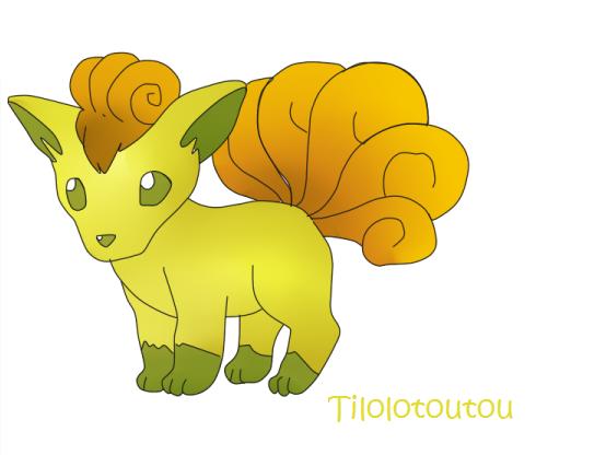 Shiny Vulpix by Tilolotoutou on deviantART