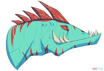 Croc head by BadTyke