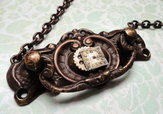 Steampunk Jewelry Door Knocker Necklace by Ilyssteamcrafts