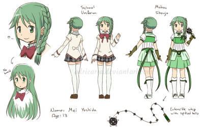 Madoka OC: Mei Yoshida by adricarra