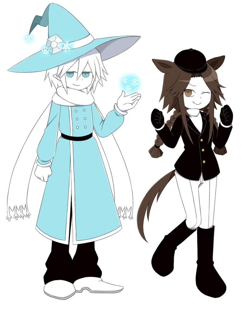 Shimo and Umari by adricarra
