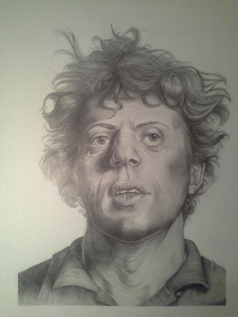 Ode to Chuck: Portrait of Philip Glass by LadyAnnaLovelace
