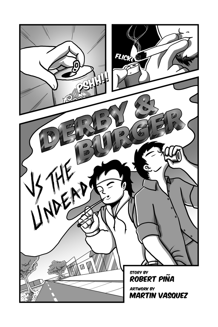 Derby and Burger vs The Undead: Page 01 by infrrno