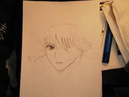Random Doodle Tsubasa Style Kotani Kinya Sketch
