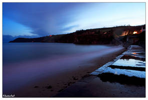 Night at Porthpean by neolestat