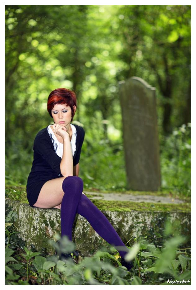 Rachel in the Graveyard 05