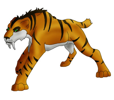 .:Male Smilodon:. by AngelofWolves13