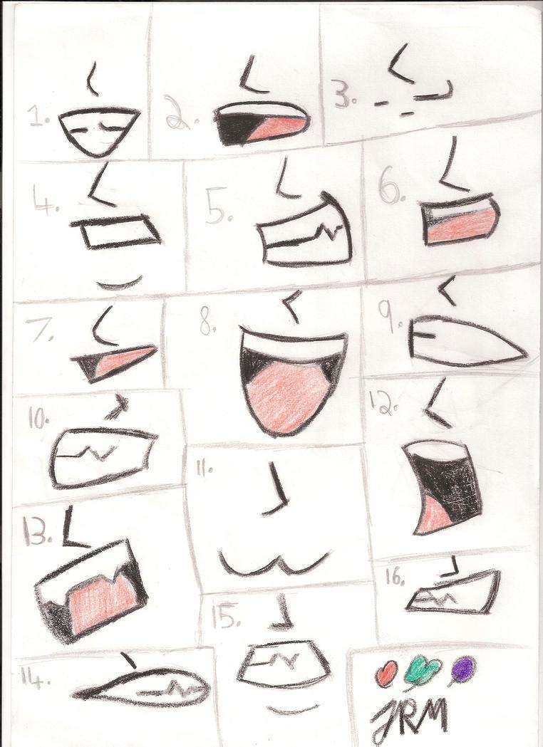 Anime And Manga Mouths By Iamtheunsub
