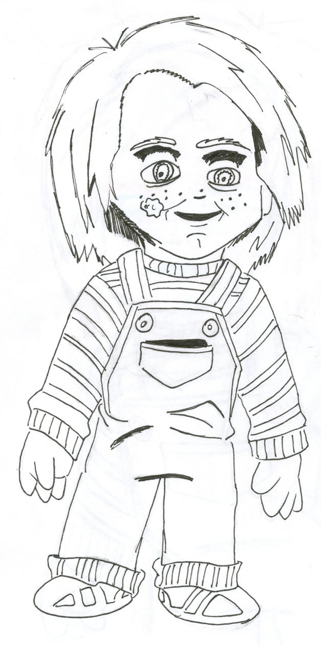 Inked Childs Play sketch by captstar1 on DeviantArt