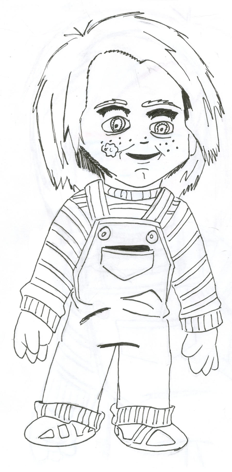 Inked Child's Play sketch by captstar1 on DeviantArt