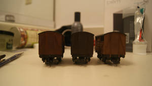 Weathered cattle wagons(front)