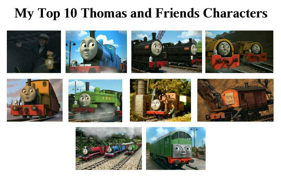 My Top 10 Thomas And Friends Characters By JamesAWilliams1996