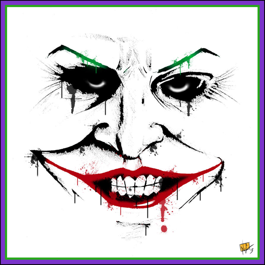 spray paint style joker by nickchetcuti media on deviantart. Black Bedroom Furniture Sets. Home Design Ideas