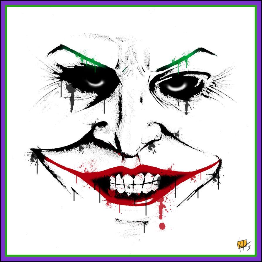 Spray Paint Style Joker by nickchetcuti-media on DeviantArt