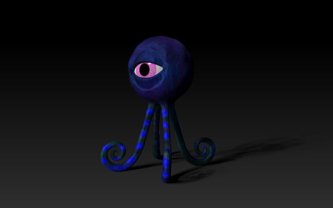 Eyeball Creature by TheKilo