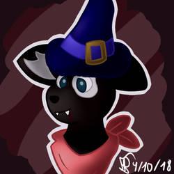 [Fursona Headshot] Halloween Time! ^w^ by Sheinxy