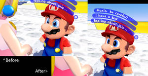 Mario Before after Face
