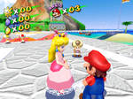 Peach Mario and some of the airport