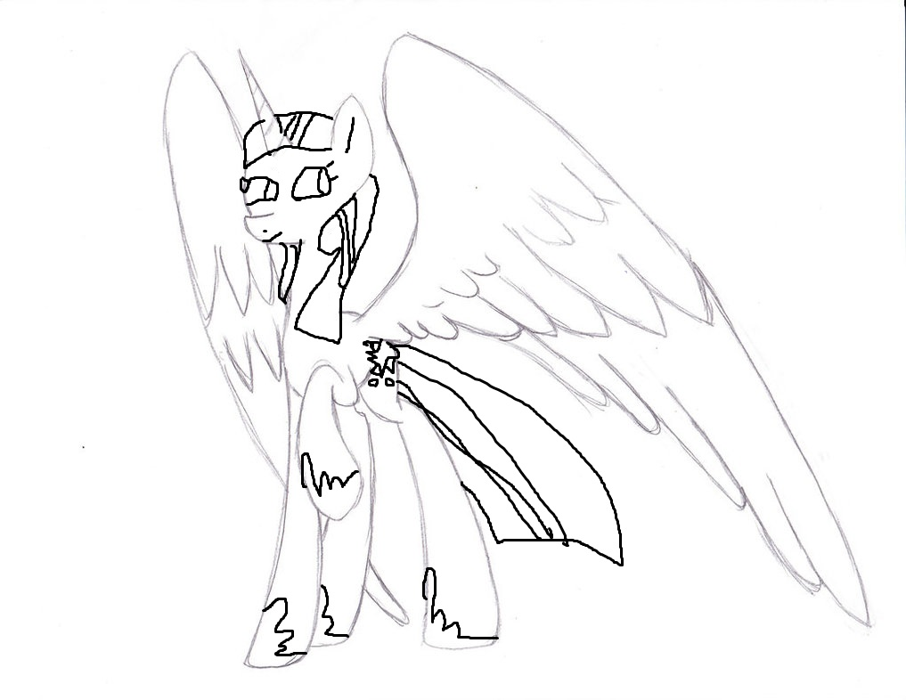 princess twilight sparkle coloring page by creeperexplosion11 on