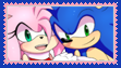 Sonic x Amy Stamp by anastasiathefox1