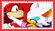 Knuckles x Rouge Stamp by anastasiathefox1