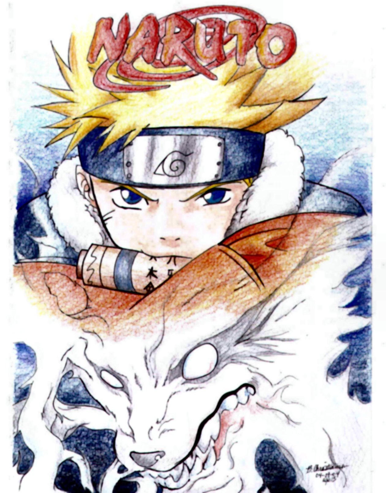 Naruto the fox demon by krzyii on deviantart