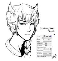 Lineart brush settings by Silvyen